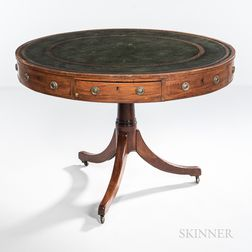 Georgian-style Mahogany Oval Center Table