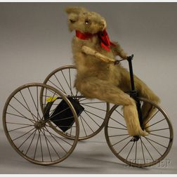 Rabbit on a Tricycle Wind-up Toy