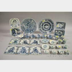 Twenty-five Pieces of Bjorn Wiinblad Designed Ceramic Tableware Items and Six Tiles