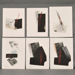 Toko Shinoda (b. 1913), Six Color Lithographs