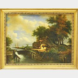 Manner of John Constable, R.A. (English, 1776-1837)      The Lock