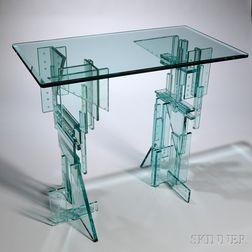 Fay Miller Art Glass Skyscraper Table