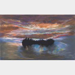 Jules Olitski (American, 1922-2007)      Luminous Dawn