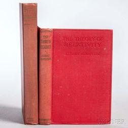 Einstein, Albert (1879-1955) Two Titles.