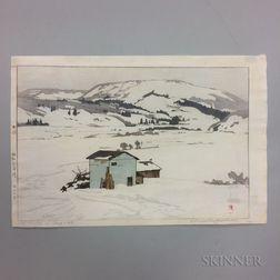 Hiroshi Yoshida (1876-1950), Winter in Taguchi