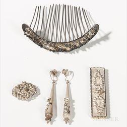 Five-piece Silver Jewelry Set