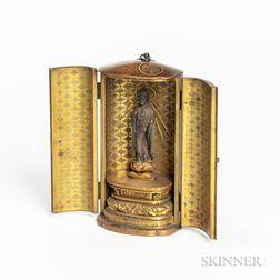Nashiji Gold-lacquered Portable Shrine