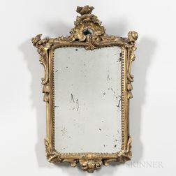 Louis XV Giltwood Mirror