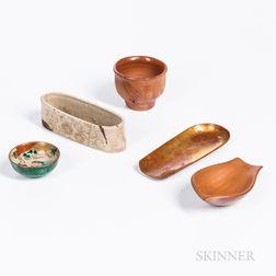 Five Ceramic and Bronze Items