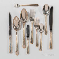 """Kirk """"Golden Winslow"""" Pattern Sterling Silver Flatware Service"""