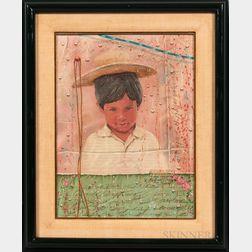 Latin American School, 20th Century      Portrait of a Boy.