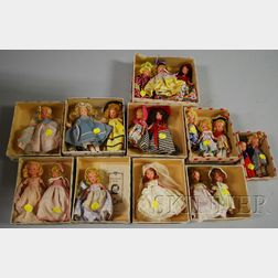 Approximately Sixteen Story Book Dolls
