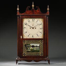 "Lucius Bradley ""Salem Bridge"" Pillar and Scroll Clock"