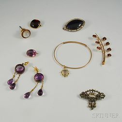Small Group of Miscellaneous Jewelry and Findings