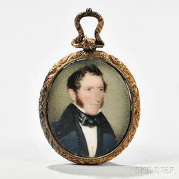 Painted Portrait Miniature of a Gentleman