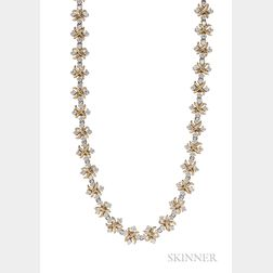 "18kt Gold, Platinum, and Diamond ""Lynn"" Necklace, Schlumberger Studios, Tiffany & Co."
