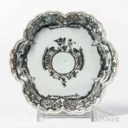 Small Export Porcelain Armorial Dish