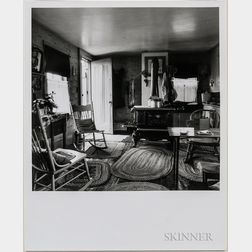 Walker Evans (American, 1903-1975)       Kodak #1 Camera in Living Room with Stove, New England