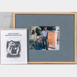 Marie Cosindas (American, 1923-1917)      John Wilson in His Studio