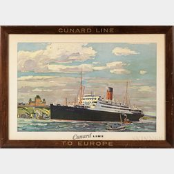 Cunard Line Promotional Poster
