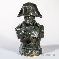 Renzo Colombo (French, act. 1875-1900)       Bronze Bust of Napoleon