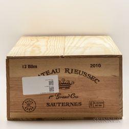 Chateau Rieussec 2010, 12 bottles (owc)