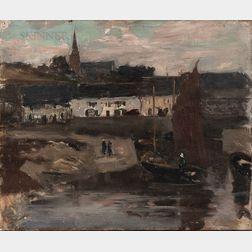 Eugène Laurent Vail (American/French, 1857-1934)      Le Port D'Audierne, Brittany