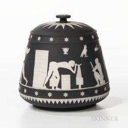 Wedgwood Black Jasper Dip Tobacco Jar and Cover