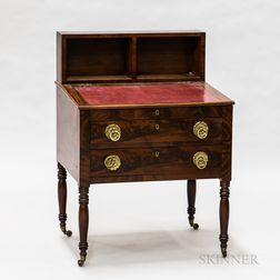 Empire Mahogany and Mahogany Veneer Slant-lid Desk