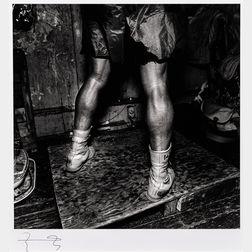 Larry Fink (American, b. 1941)      Boxing, Champs Gym, Philadelphia, PA