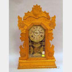 """""""Hawk"""" Oak Gingerbread Clock"""