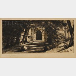 Sir Francis Seymour Haden (British, 1818-1910)      Mytton Hall