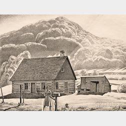 Rockwell Kent (American, 1882-1971)      Adirondack Cabin