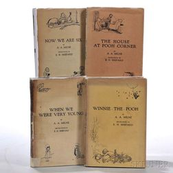 Milne, A.A. (1882-1956) Four Pooh Titles, First Editions in Dust Jackets.
