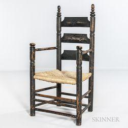 Black-painted Pilgrim Century Armchair