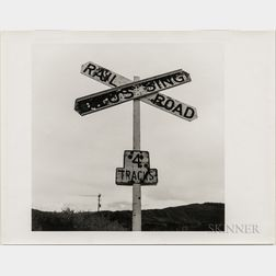 Walker Evans (American, 1903-1975)       Railroad Crossing Sign
