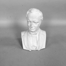 Ott & Brewer Parian Bust of Vice President Thomas Hendricks
