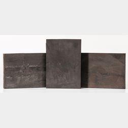 Wood Engraving Printing Blocks, New Testament, Late 19th Century, Three Examples.