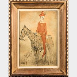 After Pablo Picasso (Spanish, 1881-1973)      Harlequin on Horseback (Arlequin à cheval)