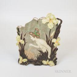 Large Austrian Art Nouveau Ceramic Vase