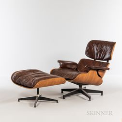 Ray (1912-1988) and Charles Eames (1907-1978) for Herman Miller Lounge Chair and Ottoman
