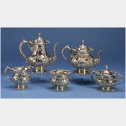 Frank M. Whiting & Co. Five Piece Tea and Coffee Service