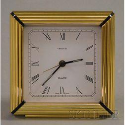 Verdura Brass Quartz Table Clock