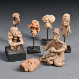 Seven Mexican Pre-Columbian Fragmentary Figures