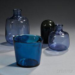Four Pieces of Scandinavian Art Glass