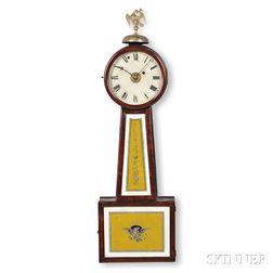"Reuben Tower Patent Timepiece with Alarm or ""Banjo"" Clock"