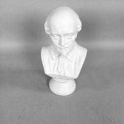 Ott & Brewer Parian Bust of Shakespeare