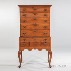 Early Maple High Chest of Drawers