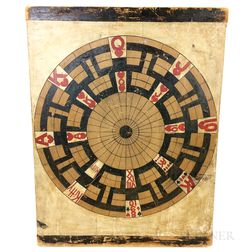 """Painted Pine """"Kitty"""" Game Board"""