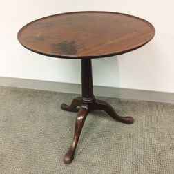 Georgian Mahogany Dished Tilt-top Birdcage Tea Table
